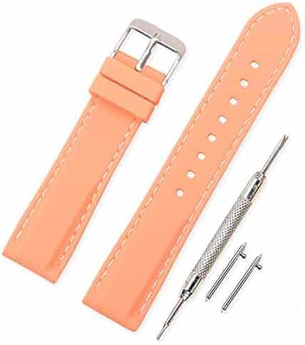 0610bcd02e 時計 ベルト 腕時計 ベルト 時計 ベルト ラバー 腕時計ストラップ 防水 柔らか スポーツ - 18mm 20mm 22mm