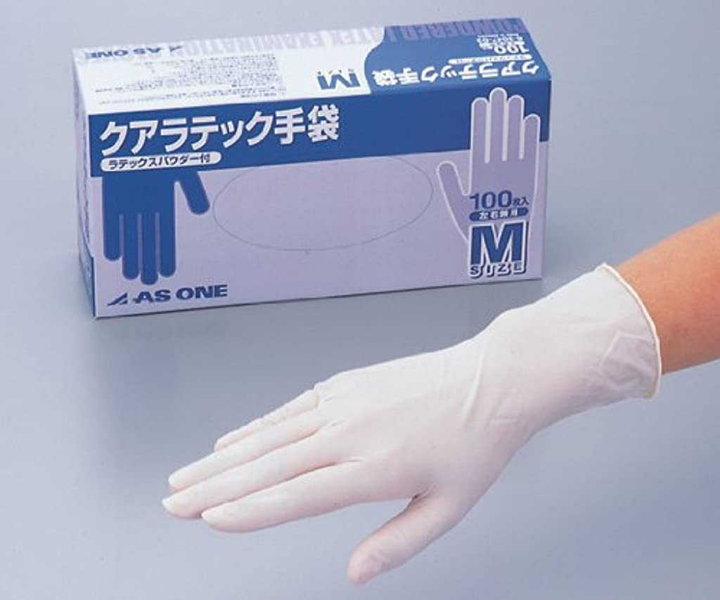 上に野望インスタンスアズワン6-3047-01クアラテック手袋(DXパウダー付き)L100枚入