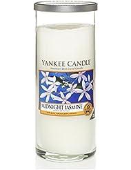 Yankee Candles Large Pillar Candle - Midnight Jasmine (Pack of 2) - ヤンキーキャンドル大きな柱キャンドル - 深夜ジャスミン (x2) [並行輸入品]