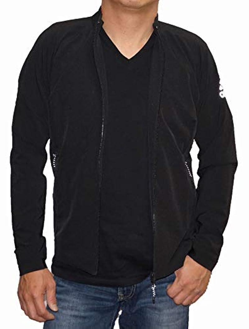 ロードハウス外国人シェアアディダス adidas ジャケット 黒 ストレッチ climalite トレーニング 吸汗 透湿 速乾 DH2610