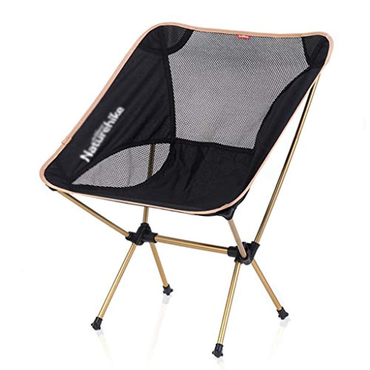 回転ケントシーンビーチ折りたたみチェア アウトドアレジャーシート 多目的釣り椅子 春のキャンプチェア 庭のゆったりとした席、速い折りたたみ (Color : Gold, Size : 53*35*67cm)