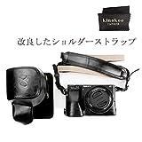 kinokoo SONY α6000 α6300カメラケース 16-50mmレンズ バッテリー交換でき ショルダーストラップ (BK)
