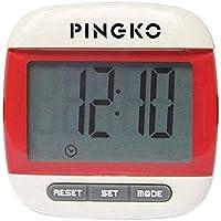 PingkoポータブルLCDデジタルマルチ歩数計ステップ距離カロリーカウンターウォーキング歩数計withクロック