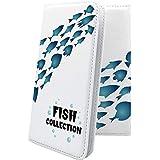 LUCE KCP01K ケース 手帳型 魚 水族館 ルーチェ マイネオ 手帳型ケース 海 LUCEKCP 01K 釣り フィッシング