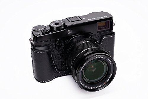 FUJIFILM 富士フイルム X-PRO2 用本革カメラケース 各種カラー (カメラケース&ストラップLK1881, ブラック)
