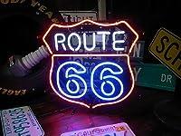 ROUTE 66 450×450 NEON SIGN (ネオンサイン)