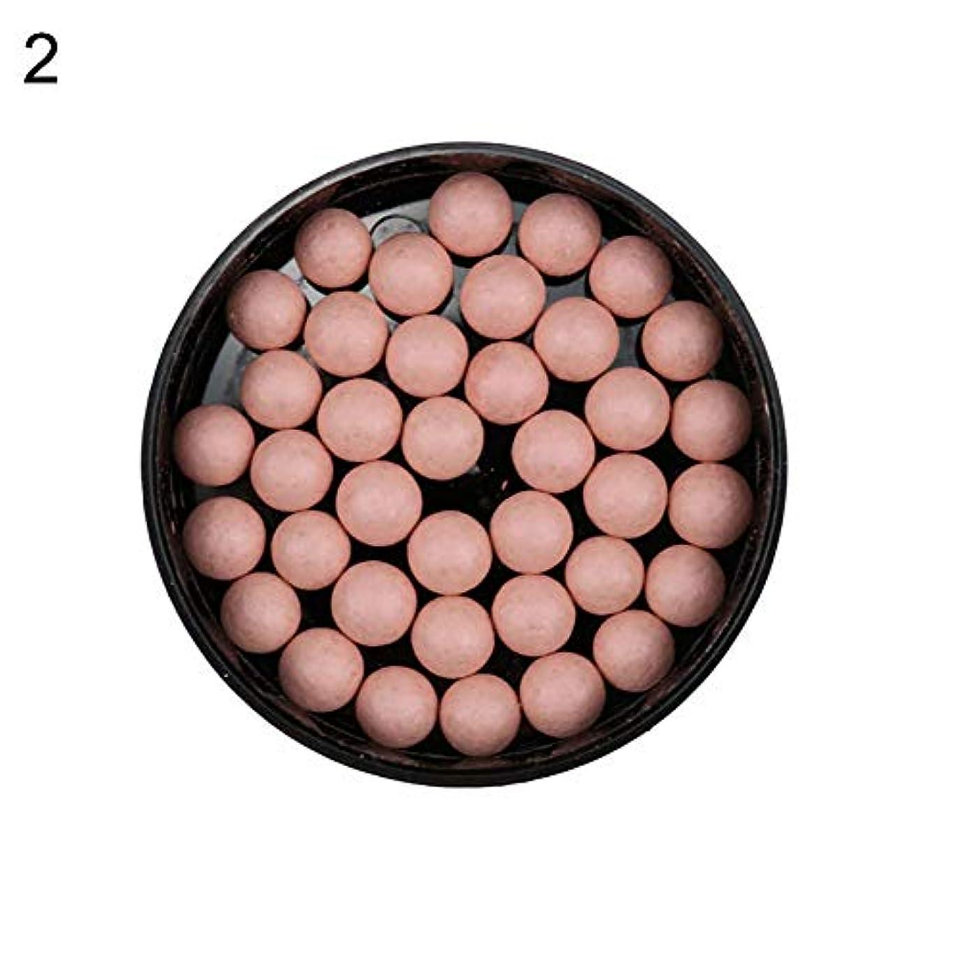 ユーモラス麦芽側面赤面ボールフェイスファンデーションシェーディングパウダーブロンザーアイシャドー輪郭化粧品 - 2