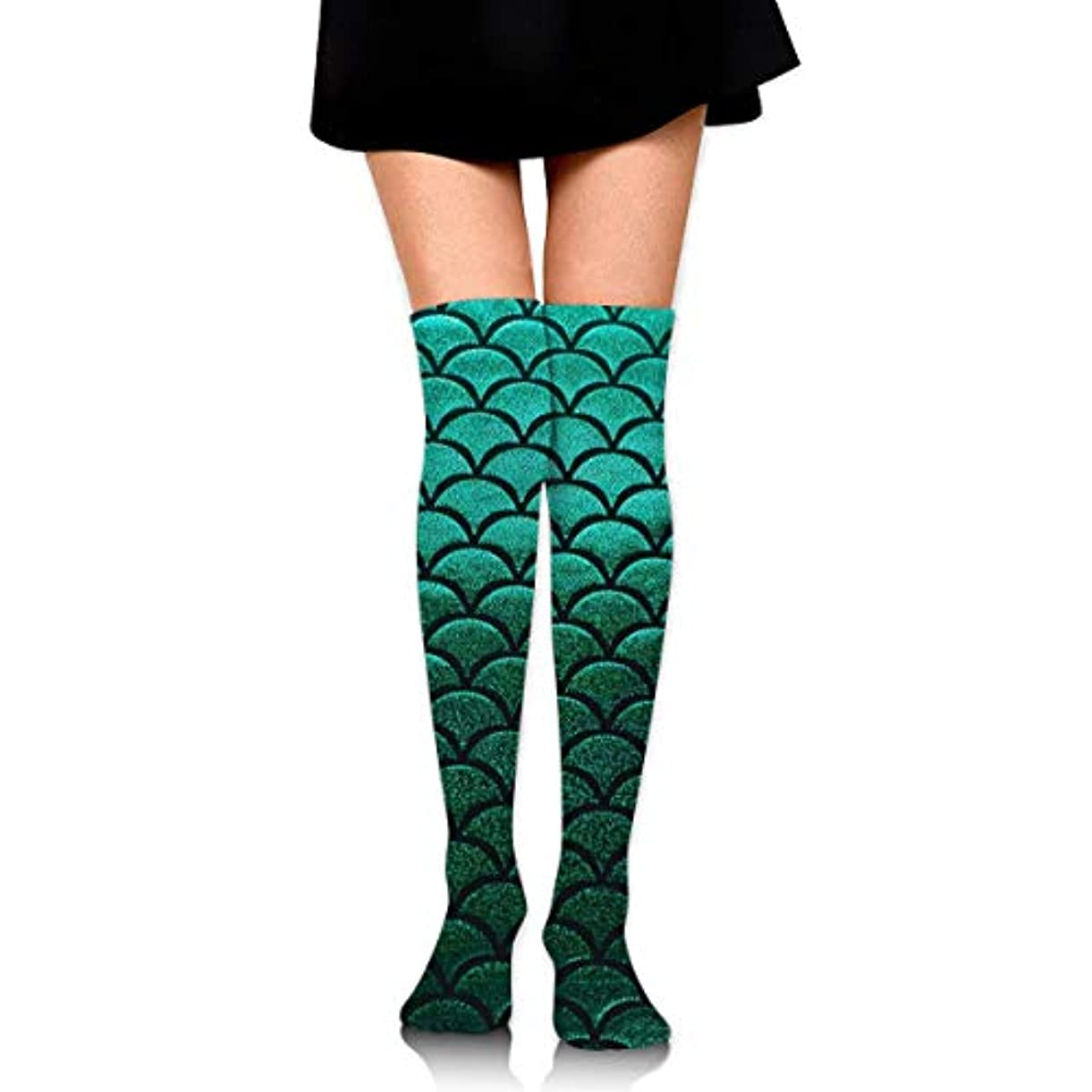 伝染性のモートバンクMKLOS 通気性 圧縮ソックス Breathable Thigh High Socks Over Exotic Psychedelic Print Compression High Tube Thigh Boot Stockings...
