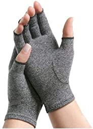IMAK Compression Arthritis Gloves, Relieves Arthritic Aches, Pain, & Joint Swelling, Open Fingertip Gloves
