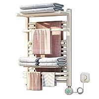 バスルームタオルラック電気タオル掛け、防湿バスルームキャビネット、ボタン1つ開き、400 W-250 W、70 * 50 cm、インテリジェントサーモスタット、高速加熱乾燥機