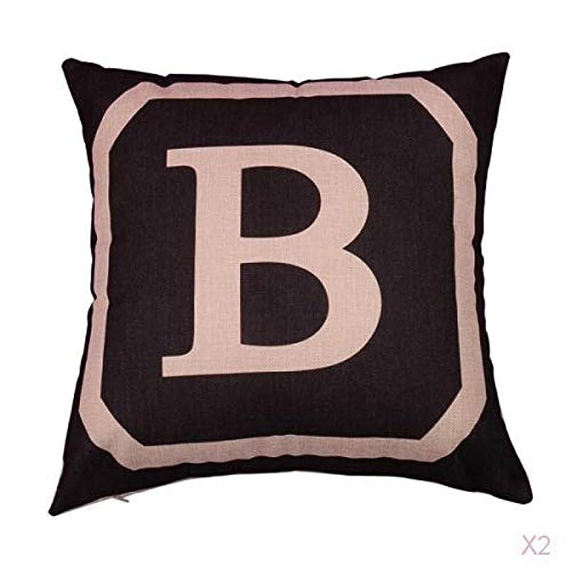 朝縫い目なめる正方形の綿のリネンスローピローケース腰クッションカバーベッドソファインテリアB