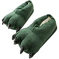 Lucky Shop1234 Thicken Warm Winter Slippers Dinosaur Claws Slippers Novelty Feet Costume for Men