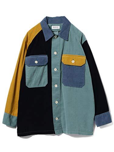(ビームスボーイ) BEAMS BOY シャツ コーデュロイ クレイジー オープンカラーシャツ レディース free ブルー