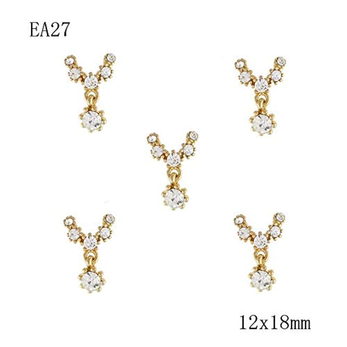 ハードリング提供された遅い10PCS金銀金属の3Dダイヤモンドネイルアートクリスマスの装飾の魅力の爪は、ラインストーンネイル用品の宝石クリスマスのキラキラ,21