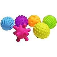 ベビーボールおもちゃ、6個Aセットragdoll50キッドボールおもちゃsoudingカラフル子タッチ手ボール玩具ベビー学習Graspingソフトボールキッズギフト( )
