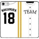 iPhone/Xperia/Galaxy/他機種選択可:好きな番号/名前をカスタマイズ/野球ユニフォーム手帳ケース(デザイン:1_L) iPhone8Plus用