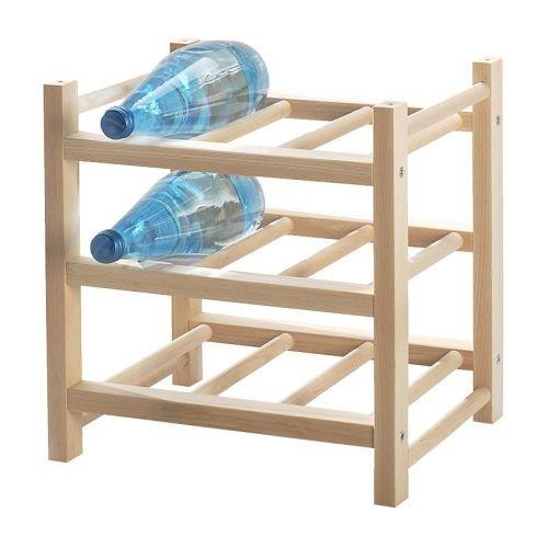 IKEA(イケア) HUTTEN 70179594 ワインラック 9本用, 無垢材