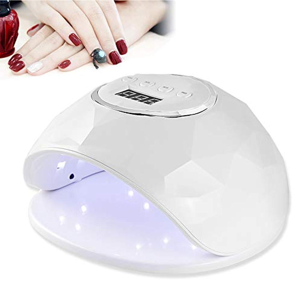 結び目哲学的敷居LEDジェルネイルライトドライヤー赤外線インテリジェント自動センサー4タイマー設定、39デュアル光源LED、トップコートネイルマニキュアツール,白