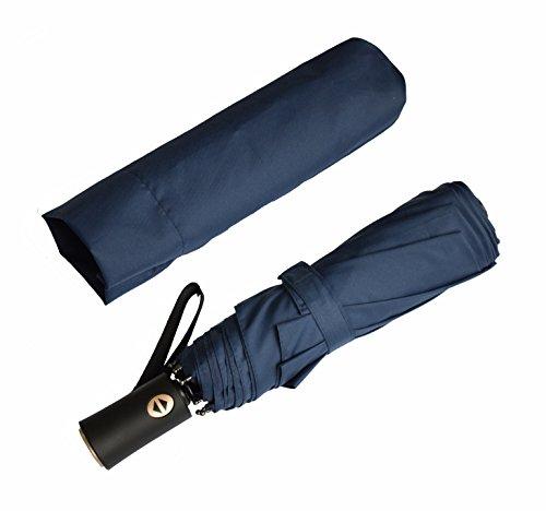折り畳み傘 ワンタッチ自動開閉傘 高強度グラスファイバー 8本骨 テフロン加工 耐風撥水 軽量 100cm 傘袋付き ブルー