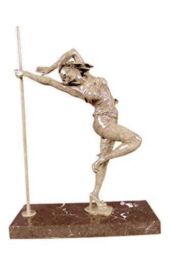 手作りのブロンズ彫刻像は、オリジナルイタリアのアーティストアルドVitalehセクシーなポールダンサー-UKxnch-591-インテリアグッズギフトを締結しました 送料無料