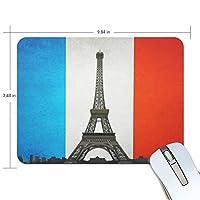 マウスパッド かわいい フランス 国旗 エッフェル塔 高級 ノート パソコン マウス パッド 柔らかい ゲーミング よく 滑る 便利 静音 携帯 手首 楽
