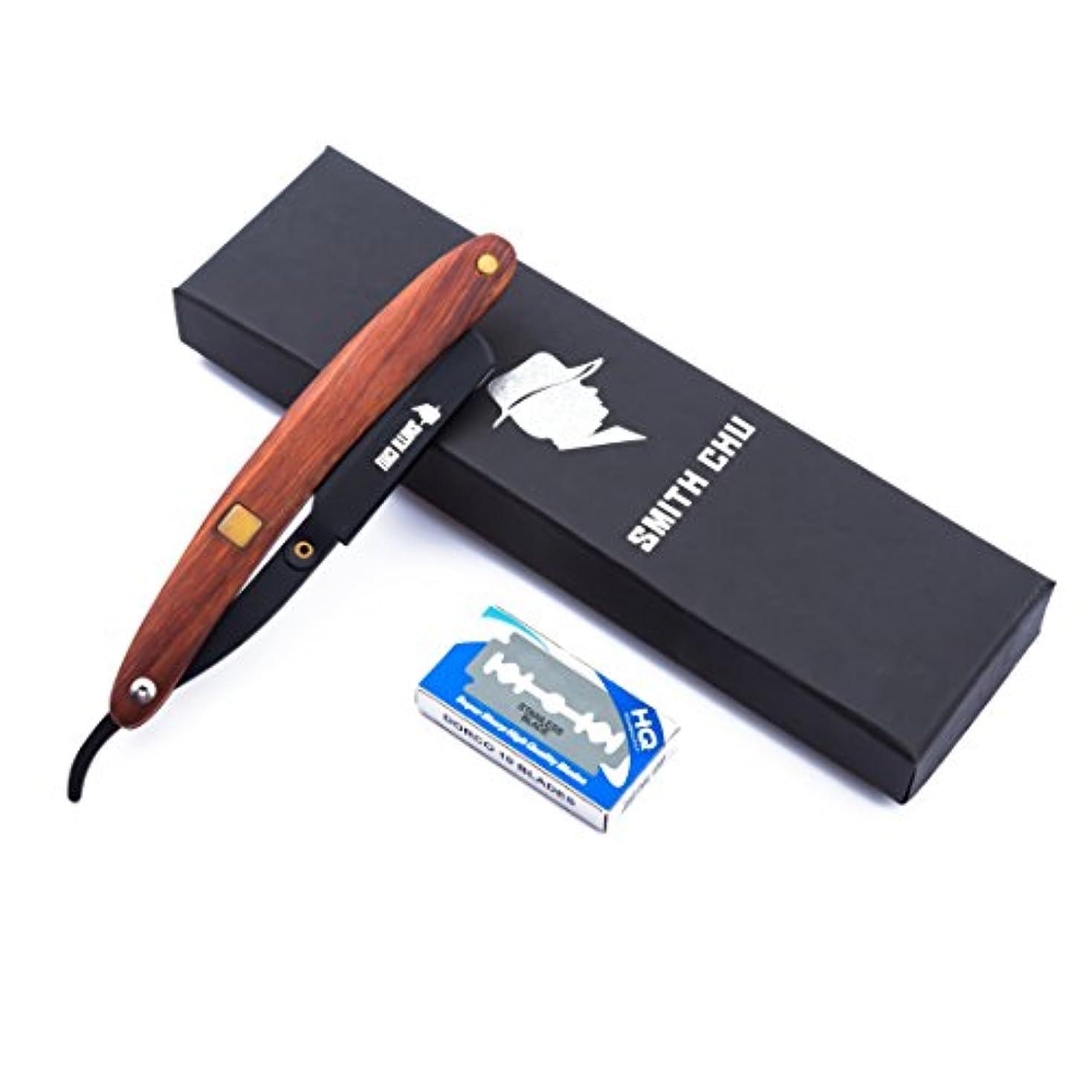 フリッパー説明的最も理容カミソリ 木製ハンドル 折りたたみナイフ クラシックサロンの理髪師ストレートスロートシェービング剃刀シェービングヘアカットツール