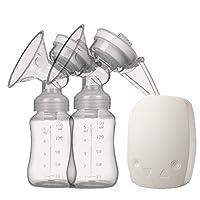 二国間電動乳房ポンプ、スマートマッサージ搾乳器、大きな吸引を充電USB,White