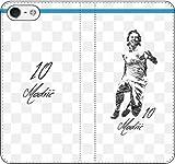 iPhone/Xperia/Galaxy/他機種選択可:サッカー/グラフィティ手帳ケース(デザイン:マドリッド/10番_02) 14 全機種対応用【Mサイズ】