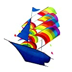 LIXADA 凧 スカイカイト 3D立体凧 紙鳶 凧揚げ 船凧 軽量で丈夫 ビーチ アウトドア 公園 凧系が付き 子供と大人のおもちゃ プレゼントなど最適