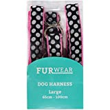 Furwear Fashion Harness for Dogs, Large, Black/White