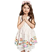 childdkivy Girls Summer Lace Dress Casual Clothing
