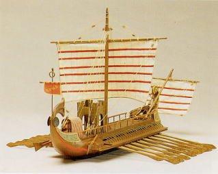 1039 輸入木製帆船模型 マンチュア モデル 770 ローマ軍のバイリューム「カエサル」CAESAR