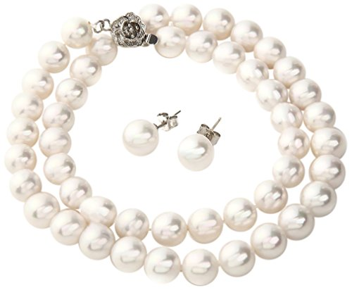Tium 高級 国産 天然貝 パールネックレス フォーマル 冠婚葬祭 結婚式 真珠(ピアスセット)