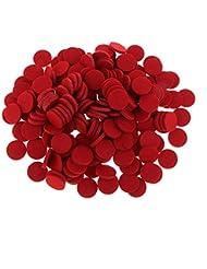 FLAMEER ディフューザーパッド アロマパッド パッド 精油 エッセンシャルオイル 香り 約200個入り 全11色 - 赤