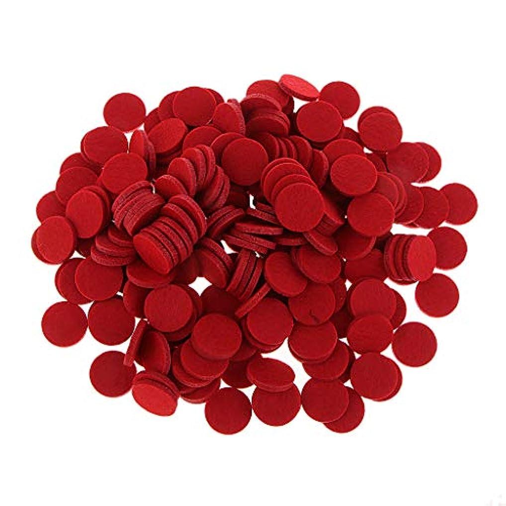 先行する太字周辺ディフューザーパッド アロマパッド パッド 精油 エッセンシャルオイル 香り 約200個入り 全11色 - 赤