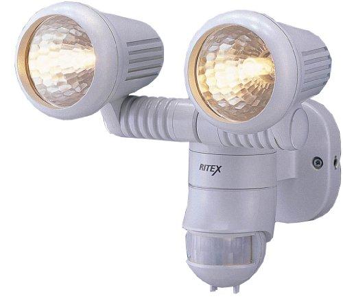 ムサシ RITEX 防雨センサーライトM ハロゲン100W×2 M-2200
