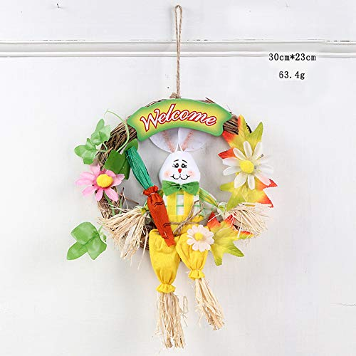 ACHICOO イースターリース 装飾品 ドア吊り ドアの装...