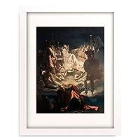 ドミニク・アングル Jean-Auguste-Dominique Ingres 「Ossian's Dream」 額装アート作品