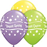 11 Happy Easter Happy Spring Latex Balloons (10 per package) by Qualatex [並行輸入品]