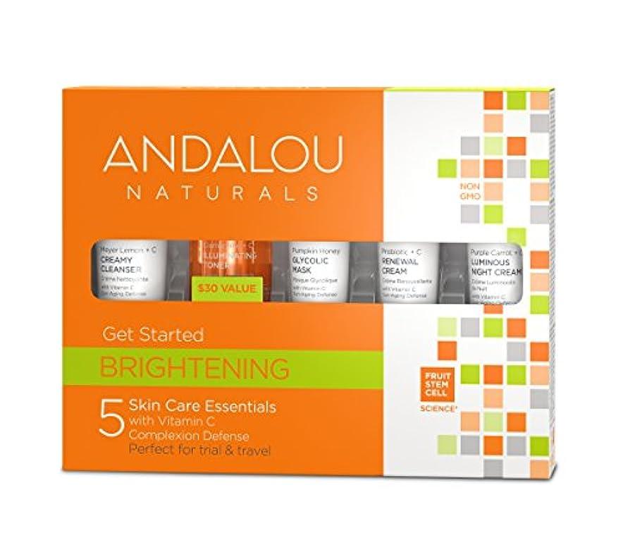 宿題をする狂人信頼オーガニック ボタニカル トライアルキット 化粧水 洗顔料 ナチュラル フルーツ幹細胞 「 B トライアルキット 」 ANDALOU naturals アンダルー ナチュラルズ