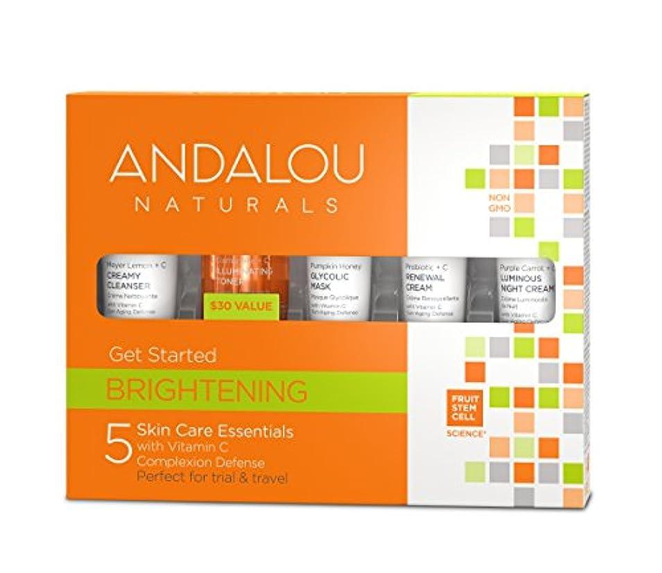 スロープ戦術くしゃみオーガニック ボタニカル トライアルキット 化粧水 洗顔料 ナチュラル フルーツ幹細胞 「 B トライアルキット 」 ANDALOU naturals アンダルー ナチュラルズ
