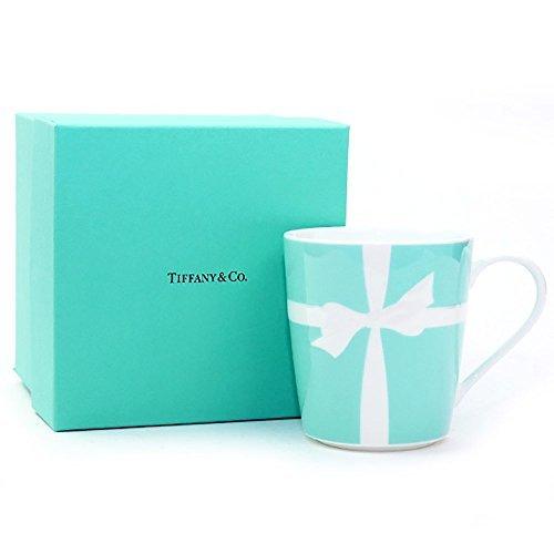 【名入れ対応可】ティファニー TIFFANY&Co マグカップ ブルーリボン 1客 国内未発売モデル ブルー リボン ボックス 日本製 (名入れなし)