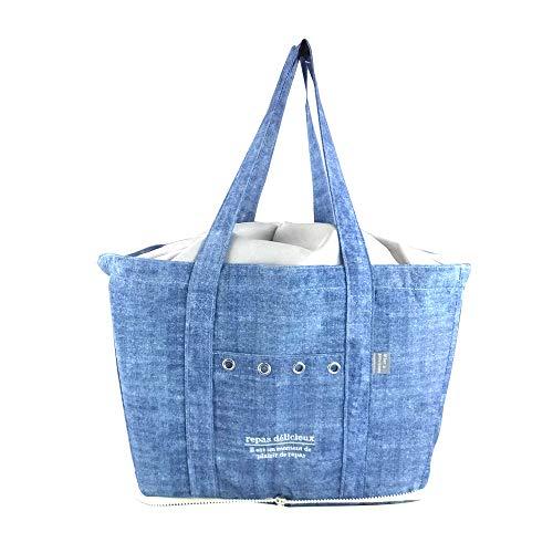 アットファースト お買い物バッグ ブルー レジカゴ型 リバージュ AF6129
