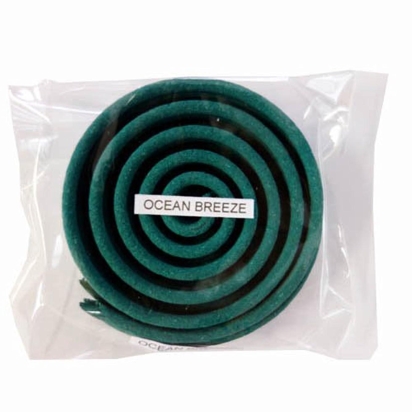 緩やかな原理上げるお香/うずまき香 OCEAN BREEZE オーシャンブリーズ 直径6.5cm×5巻セット [並行輸入品]