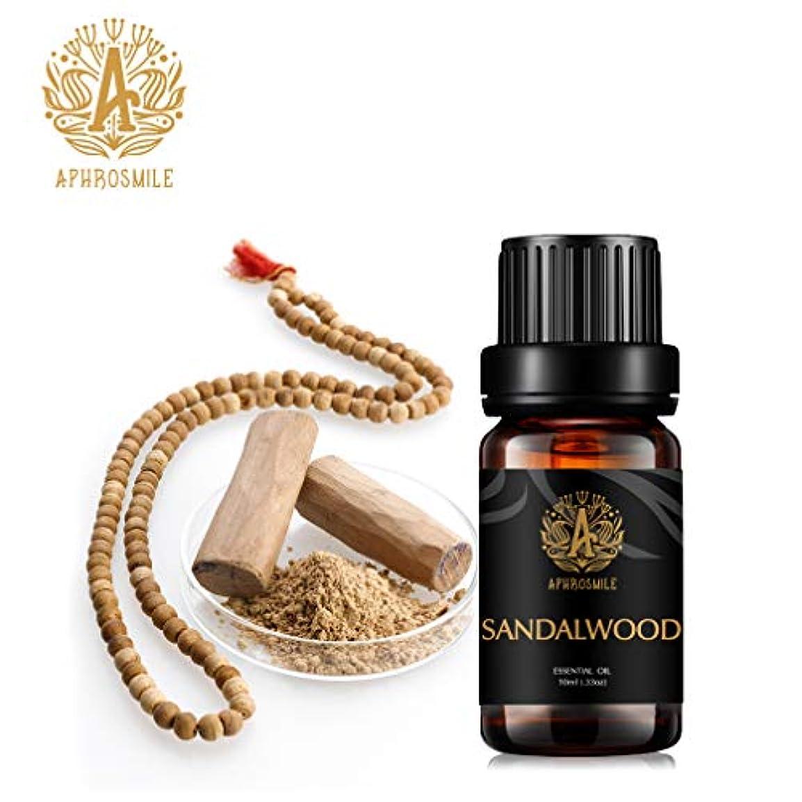 木材申し立てられたオーバーランサンダルウッドエッセンシャルオイル、100%ピュアアロマセラピーエッセンシャルオイルサンダルウッドの香り、不安を和らげる、治療用グレードサンダルウッドフレグランスエッセンシャルオイル為にディフューザー、マッサージ、加湿器...