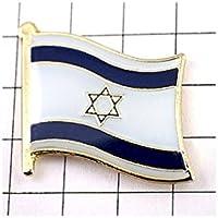 ピンバッジ ダビデの星 イスラエル 国旗 デラックス薄型 キャッチ 付き ピンズ ピンバッチ