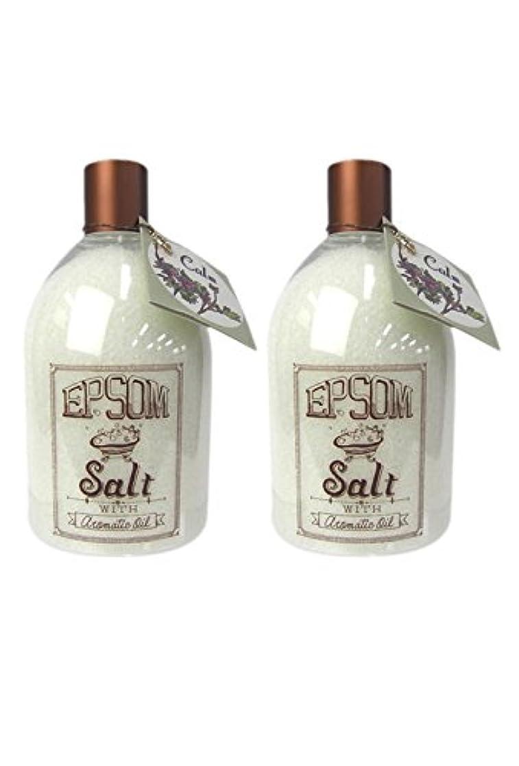 香りフィットネスバイオリンライフトリム アロマ エプソムソルト 480g カーム (2個セット)
