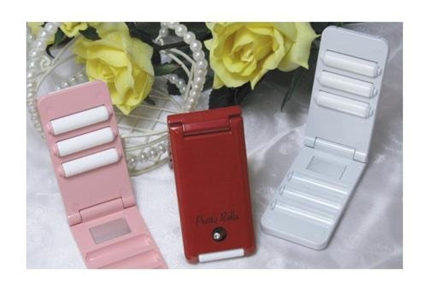 農業惨めな突破口携帯タイプ美容ローラー【Pretty Rolla】 (レッド)