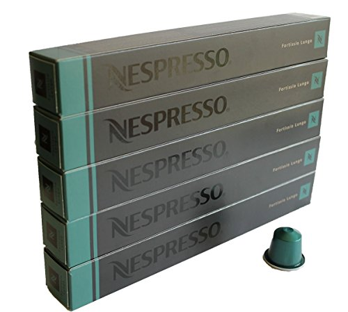 NESPRESSO ネスプレッソ カプセル コーヒー フォルティシオ・ルンゴ 1本10カプセル×5本セット [並行輸入品]