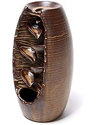 クリエイティブ逆流香バーナーセラミック香コーンバーナーホルダーホームフレグランスアロマセラピー装飾香ホルダー (Color : Brown, サイズ : 3.54*8.07 inches)
